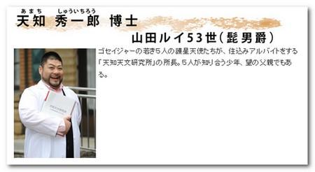 天知秀一郎博士(髭男爵・山田ルイ53世)